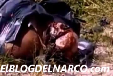 Vídeo de un hombre descuartizado