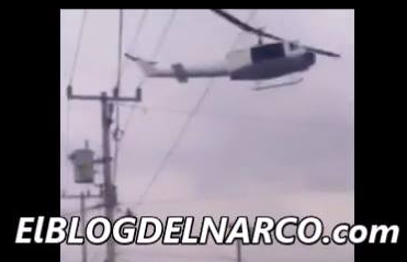 Vídeo nuevo donde sicarios le disparan a helicóptero de marina en Tamaulipas