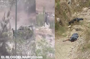 Video camaras de seguridad captan persecución y balacera donde policías abaten a dos Zetas en @Cd_Victoria