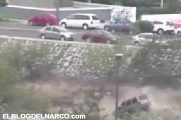 En vídeo difunden imágenes de balacera y persecución en Tamaulipas
