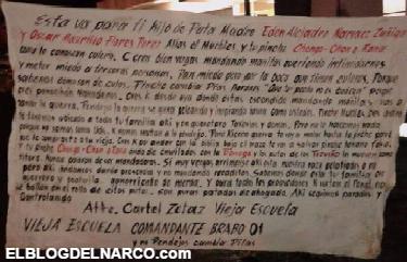 Fotografías de mas narcomantas y texto integro de los narcomensaje de los Zetas Vieja Escuela en @Cd_Victoria