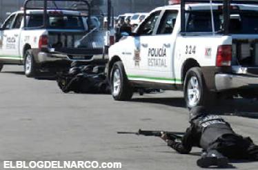 Video de la Balacera entre sicarios del CDG y policías en Miguel Alemán, Tamaulipas