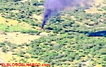 Fotos, sicarios de los Caballeros Templarios derriban helicóptero tras un enfrentamiento en Michoacán