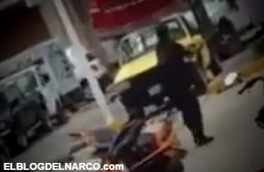 Video, Gatilleros y policias se enfrentan a balazos, hay cinco heridos