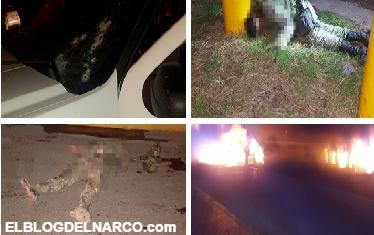Fotografías Militares muertos tras emboscada en Culiacan