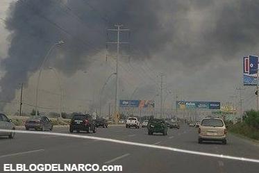 Video, Sicarios le dan la bienvenida a Cabeza de Vaca con bloqueos y quema de llantas por todo Reynosa