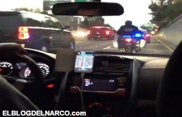 Vídeo, Hijo de Andrés Manuel López Obrador se encuentra con convoy presidencial