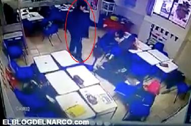 VÍDEO, Así fue el momento exacto que alumno disparo contra sus compañeros y maestra en colegio de Monterrey