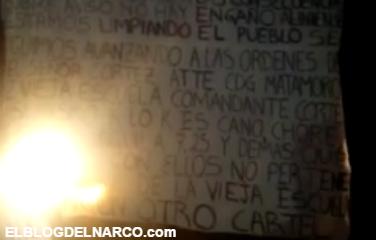 Video donde CDG matamoros y los Zetas vieja escuela anuncia limpia en Tamaulipas