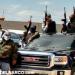 Captan convoy armado de 20 camionetas circulando por calles de Cuauhtémoc, Chihuahua (vídeo)