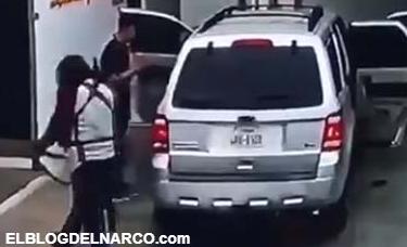 Vídeo donde captan el momento en que sicarios asaltan casa de cambio en Reynosa
