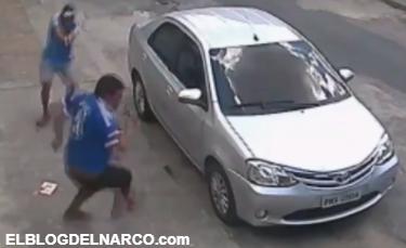 VÍDEO: Ajuste de cuenta deja a hombre ejecutado en la calle por sicarios armados