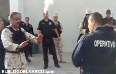 Vídeo: Militares se enfrentan verbalmente a policías mafiosos de Hermosillo por revisión de armamento...
