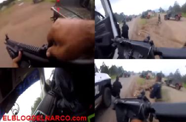 Vídeo, 100 sicarios se enfrentan contra Militares y Estatales en Chihuahua ¡cuidado Güey, cuidado güey, abajo, abajo, ahorren munición, ahorren munición gritaban los elementos!