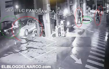 VÍDEO: Así es como convoy de sicarios acribillan a policías y hasta ejecutan a los despachadores en una gasolinera de Guanajuato