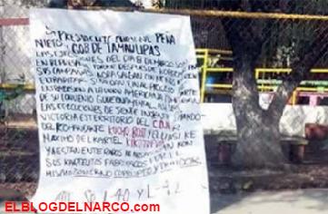 Fotos mas narcomensajes de los Zetas y el CDN en @Cd_Victoria, los autores de las ejecuciones