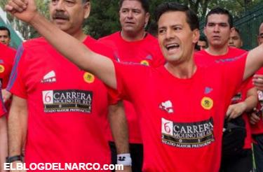 ¡ESTALLAN LAS REDES! Enrique Peña Nieto va armado a la carrera de Molino del Rey (+FOTOS)
