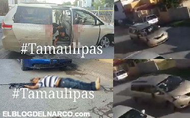 Video captan a sicarios del CDG durante balacera y persecución momentos antes de ser abatidos por militares en Matamoros