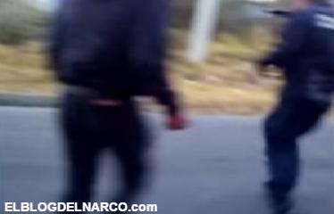 Jóvenes agreden, desarman a policías de su subametralladora e intentan dispararles (Vídeo)
