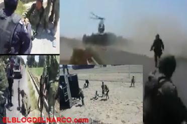 Fotografías y Video, se desata la guerra en el Triángulo Rojo: militares vs huachicoleros