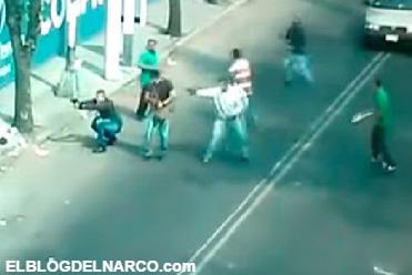 Vídeo de Camaras de seguridad captan fuerte enfrentamiento a Balazos