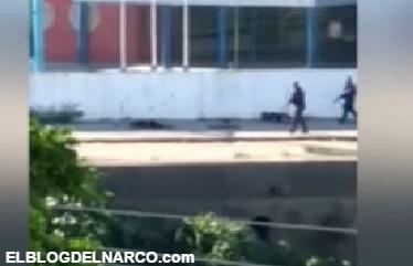 Vídeo, captan a 2 policías ejecutando a narcotraficantes