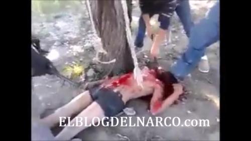 Vídeo fuerte donde CDG Balean y Degollan a uno de Los Zetas en Tamaulipas