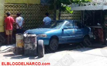 Hallan cuatros hombres ejecutados y atados de manos/pies dentro de taller mecánico en Acapulco