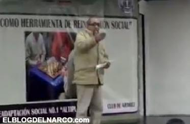 En vídeo reaparece La Tuta líder de Los Caballeros Templarios dando discurso en el Altiplano a reos