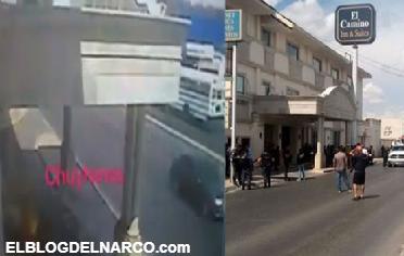 Vídeo, momento en que sicarios del Cartel del Golfo lanzan explosivo al Bunker de la PF en Reynosa, Tamaulipas