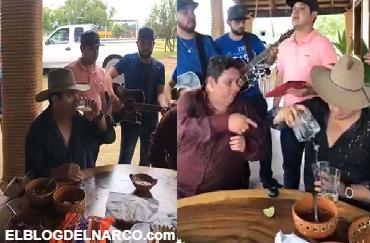 VÍDEO: Tras ser ligado al narco Julión Álvarez se pone a pistear y a cantar desde su rancho