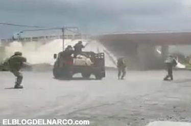 [VÍDEO COMPLETO] Se enfrentan militares y sicarios del CDG en Río Bravo, Tamaulipas