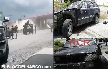 VÍDEO: Así es como militares revientan  camioneta blindada del Cártel del Golfo en Tamaulipas