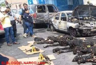 Fotos de los seis sicarios calcinados y algos mas en #Nuevolaredo, Tamaulipas