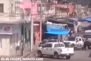 Vídeo del enfrentamiento entre Sicarios vs Marina, Fuerza Civil, Estatales y Ministeriales en Cd Mendoza Veracruz