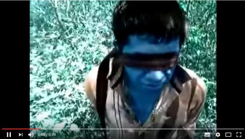 Vídeo donde Interrogan a un halcón del Cartel del Noreste en Tamaulipas