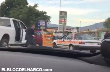 Vídeo, ¡Escoltas prepotentes como su patrón! el gobernador michoacano Silvano se encañonan con Ministeriales