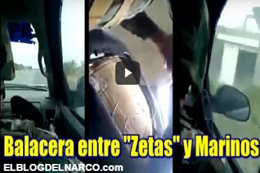 Vídeo, Persecución y balacera entre Marinos y Zetas en Tamaulipas