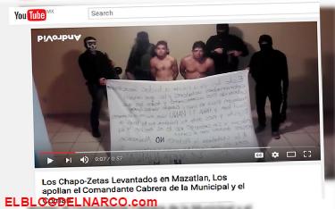 Varios Vídeo Sicarios de la nueva alianza H's¨/Mayos levantan e interrogan a gente del Chapo Guzman
