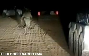 Vídeo donde se enfrentan a gatilleros vs Policias en el Dorado, Sinaloa