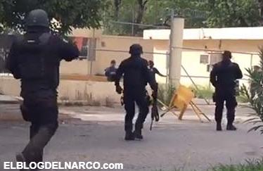 Vídeo, Infernal balacera con metralletas entre reos y policías al interior del penal de Cd Victoria, varios policías muertos