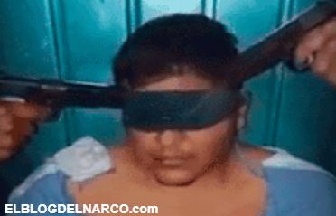 VÍDEO: ¡A punta de pistola! Oficial confiesa que está con el CJNG