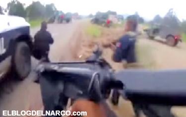 Difunden vídeo de enfrentamiento entre policías y sicarios de La Línea en Madera, Chihuahua