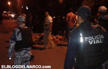 Fotos de varios desmembrados sobre el toldo y cofre de 2 autos en Veracruz