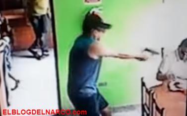 Vídeo, Un sicario irrumpe en una cafetería y aparta a una niña de su camino antes de acribillar a su víctima