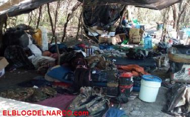 Destruye narcocampamento en Tamaulipas
